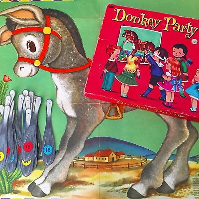 Vintage-Donkey-Party-Pin-The-Tail-On-The